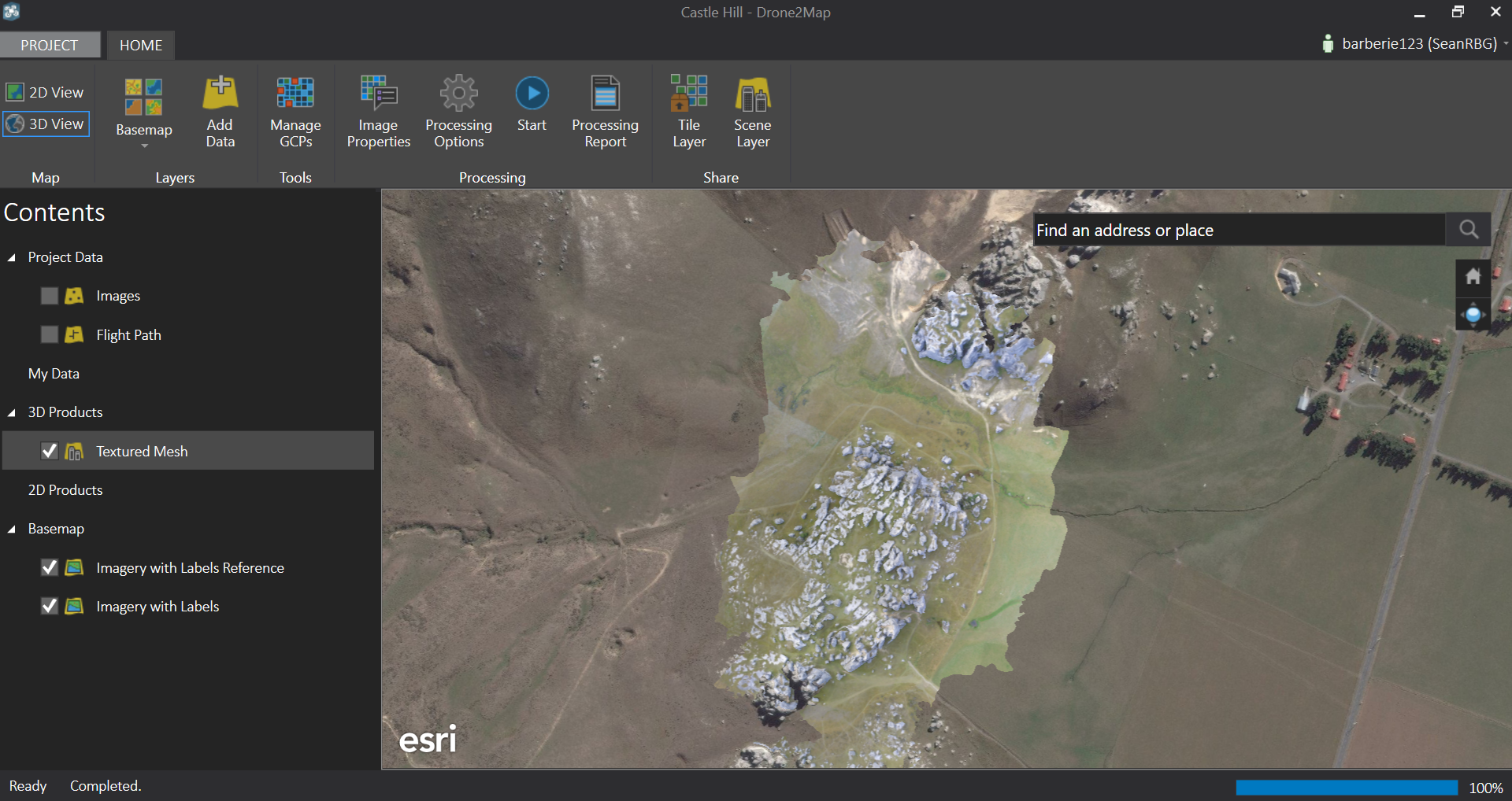 esri drone2map with basemap
