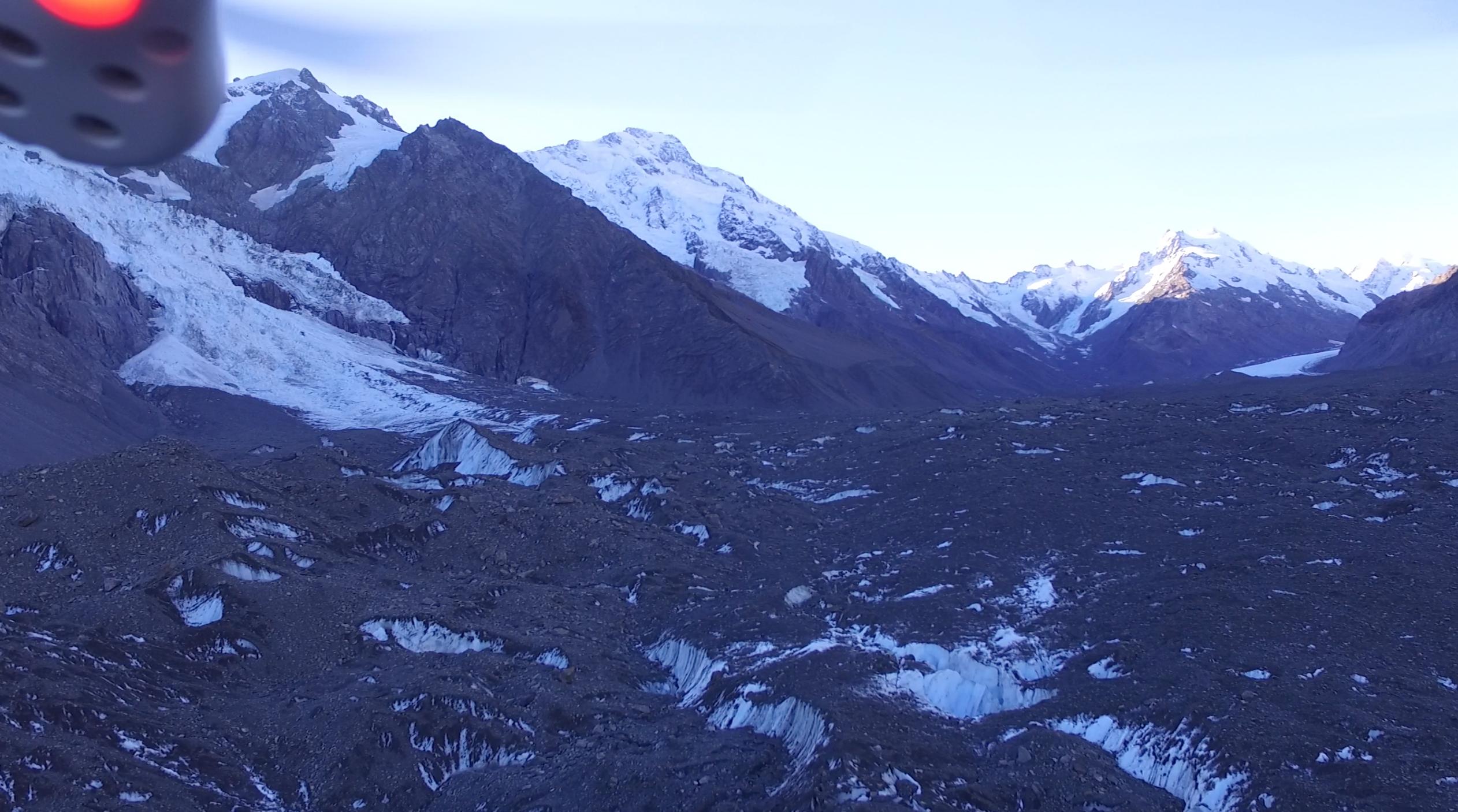 Tasman Glacier from drone